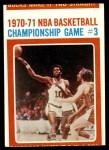 1971 Topps #135   NBA Playoffs Game #3 Front Thumbnail