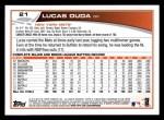 2013 Topps #21  Lucas Duda   Back Thumbnail
