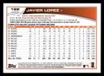 2013 Topps #192  Javier Lopez   Back Thumbnail