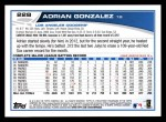 2013 Topps #228  Adrian Gonzalez   Back Thumbnail