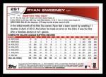 2013 Topps #291  Ryan Sweeney   Back Thumbnail