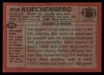 1983 Topps #315  Bob Kuechenberg  Back Thumbnail
