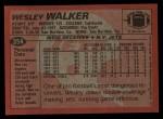 1983 Topps #354  Wesley Walker  Back Thumbnail