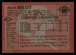 1983 Topps #192  Rich Milot  Back Thumbnail