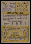 1974 Topps #107 ONE Jim Mitchell   Back Thumbnail