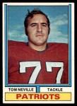 1974 Topps #77 ONE Tom Neville  Front Thumbnail