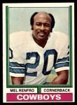 1974 Topps #106  Mel Renfro  Front Thumbnail