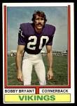 1974 Topps #30  Bobby Bryant  Front Thumbnail