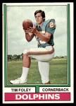 1974 Topps #38  Tim Foley  Front Thumbnail