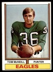 1974 Topps #99  Tom McNeill  Front Thumbnail