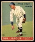 1933 Goudey #140  Bump Hadley  Front Thumbnail