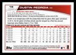 2013 Topps #15  Dustin Pedroia   Back Thumbnail