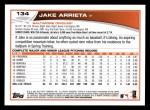 2013 Topps #134  Jake Arrieta   Back Thumbnail