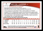 2013 Topps #1  Bryce Harper  Back Thumbnail