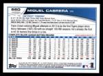 2013 Topps #660  Miguel Cabrera  Back Thumbnail