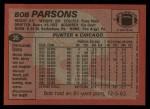 1983 Topps #35  Bob Parsons  Back Thumbnail