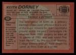 1983 Topps #62  Keith Dorney  Back Thumbnail
