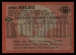 1983 Topps #195  Mike Nelms  Back Thumbnail