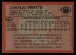 1983 Topps #259  Charles White  Back Thumbnail
