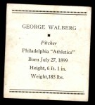 1933 Tattoo Orbit R305 #57  Rube Walberg   Back Thumbnail