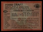 1983 Topps #276  Donnie Craft  Back Thumbnail