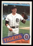 1985 Topps #160  Lance Parrish  Front Thumbnail
