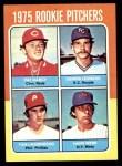 1975 Topps Mini #615   -  Dennis Leonard / Tom Underwood / Pat Darcy /Hank Webb Rookie Pitchers Front Thumbnail