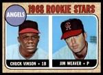 1968 Topps #328   -  Jim Weaver / Chuck Vinson Angels Rookies Front Thumbnail