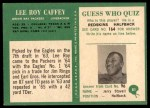 1966 Philadelphia #81  Lee Roy Caffey  Back Thumbnail