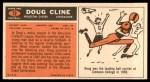 1965 Topps #72  Doug Cline  Back Thumbnail