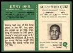 1966 Philadelphia #22  Jimmy Orr  Back Thumbnail