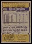 1979 Topps #266  Willie Buchanon  Back Thumbnail