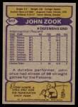 1979 Topps #517  John Zook  Back Thumbnail