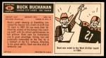 1965 Topps #94  Buck Buchanan  Back Thumbnail