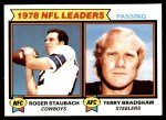 1979 Topps #1   -  Roger Staubach / Terry Bradshaw Passing Leaders Front Thumbnail
