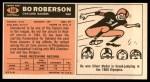 1965 Topps #149  Bo Roberson  Back Thumbnail
