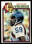 1979 Topps #125   -  Matt Blair All-Pro Front Thumbnail