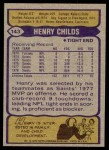 1979 Topps #143  Henry Childs  Back Thumbnail