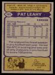 1979 Topps #121  Pat Leahy  Back Thumbnail