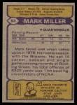 1979 Topps #53  Mark Miller  Back Thumbnail