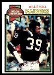 1979 Topps #235  Willie Hall  Front Thumbnail