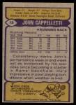 1979 Topps #18  John Cappelletti  Back Thumbnail