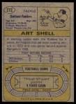 1974 Topps #272  Art Shell  Back Thumbnail