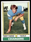 1974 Topps #228  Terry Owens  Front Thumbnail