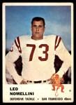 1961 Fleer #67  Leo Nomellini  Front Thumbnail
