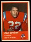 1963 Fleer #3  Ron Burton  Front Thumbnail