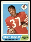 1968 Topps #61  Jimmy Johnson  Front Thumbnail