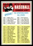 1970 Topps #432 WHI  Checklist 5 Front Thumbnail
