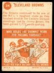 1963 Topps #24   Browns Team Back Thumbnail