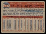 1957 Topps #227  Jerry Staley  Back Thumbnail